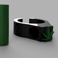 weed ring v4.1.png Download STL file SMOKE RING • Object to 3D print, Filamenthor