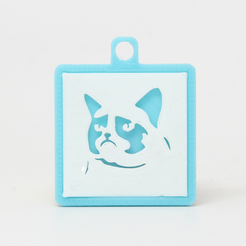 Capture_d__cran_2015-08-14___09.32.49.png Download free STL file Grumpy Cat Silhouette Keychain • 3D printable model, champagnemami