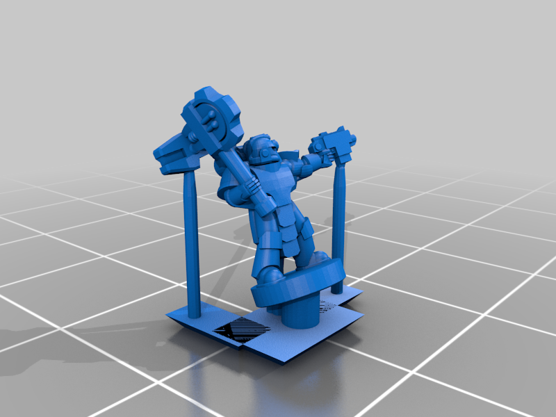 PlateArmourCommand_Tech.png Download free STL file Galactic Crusaders - Plate Armour Command - 6-8mm • 3D printable model, MoonJammy