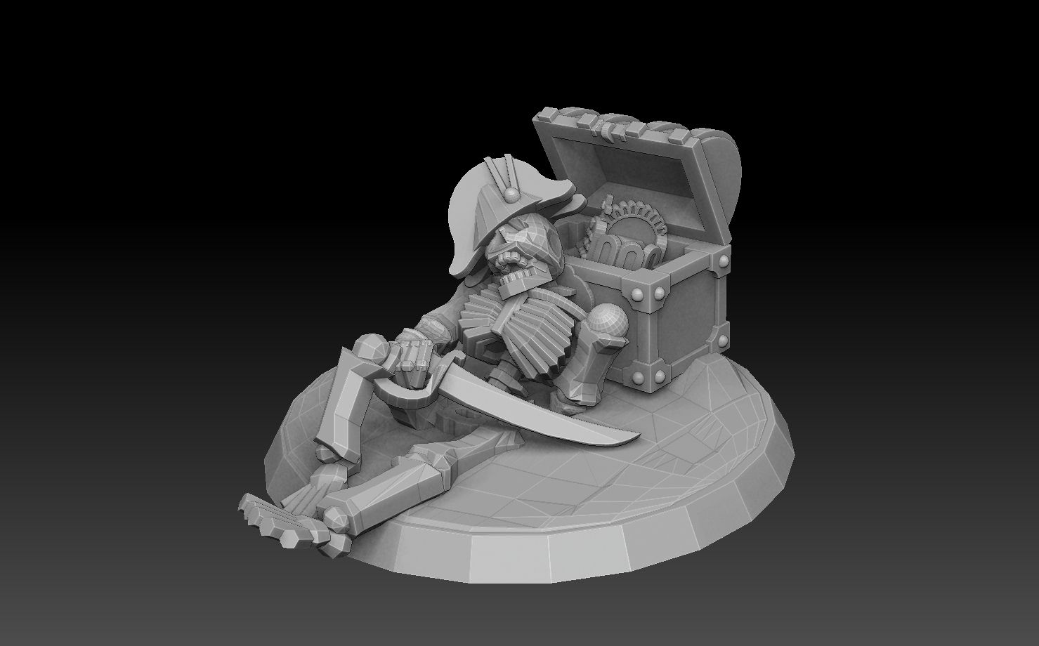 treasure chestskele2.jpg Download STL file Undersea Bases Stems and Terrain 28mm • 3D printing object, SharedogMiniatures