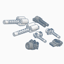 Gaslands_Freeway_Flier_Weapons_Pack.png Download free STL file GASLANDS: Freeway Flier Weapons Pack • Object to 3D print, Ellie_Valkyrie