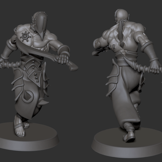 pose03_01.png Download STL file Warrior Squad With Bonus Acolyte / Raider - Cursed Elves • 3D printable design, edgeminiatures