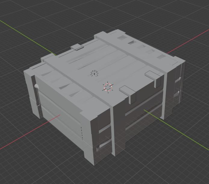 caisse.jpg Download free STL file [Tank RC 1/16] US ammo boxes • 3D printing object, steve_sp78