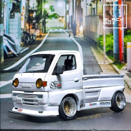 02.jpg Download STL file Suzuki Carry Style model with bodykit - Complete Model  • Object to 3D print, BlackBox
