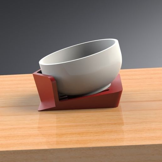 Tilt-A-Bowl Stand (1).jpg Download free STL file Tilt-A-Bowl Stand for individuals with limited to no mobility • 3D printable object, Trikonics