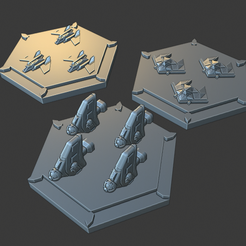 fighter-tokens-3.png Download free STL file Fighter Tokens Full Thrust • 3D print template, Go0gleplex