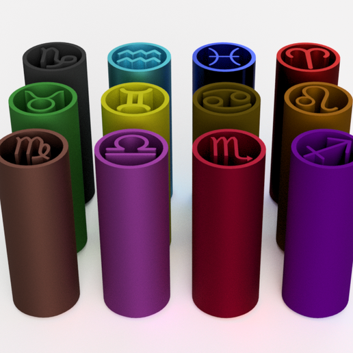 HOROS3.png Download STL file Filter Tips - Pack Horoscope   (Boquillas reutilizables) Filtros weed • Object to 3D print, Weed420House