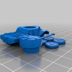 Chassis-Turret-whole.png Download STL file French Panhard 178B Armored Car - Easy Print • 3D printable model, pjm911