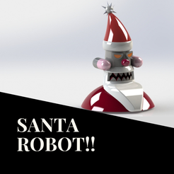 BATMAN!! (3).png Download free STL file Santa Robot • 3D printable template, skp3d