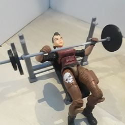 20180603_162553.jpg Download free STL file Weight Bench and Weights (1:18 scale) • 3D printing design, zanzas_toys