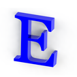 E2.png Download free STL file Letras / abecedario completo • Object to 3D print, Lubal