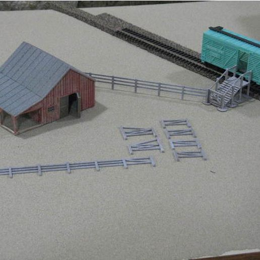 4e5bb6dd26084e67108b000b150d1da4_preview_featured.jpg Download free STL file HO Scale Small Barn and Accessories • 3D printable object, kabrumble