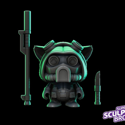 Capture d'écran 2017-08-16 à 18.25.49.png Download free STL file Teemo omega squad (urban toy style) from league of legends • 3D printing object, prozer