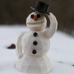 snowman_display_large.jpg Download free STL file Snowman • Object to 3D print, Raeunn3D