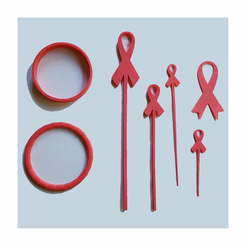 bc_main_2.png Download free STL file Breast Cancer Awareness Collection • 3D printer design, barb_3dprintny