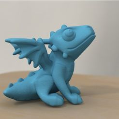 5e25d8f15fb0489f67f5b8d1900609e2_preview_featured.jpg Download free STL file cute dragon (remodeled) • 3D printable object, bs3