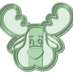 Cara_e.png Download STL file Reindeer face cookie cutter • Template to 3D print, osval74
