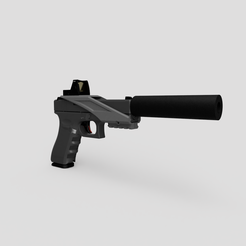 rmr1.png Download STL file Airsoft glock RMR mount with bottom rail • 3D printer model, rhysdavey