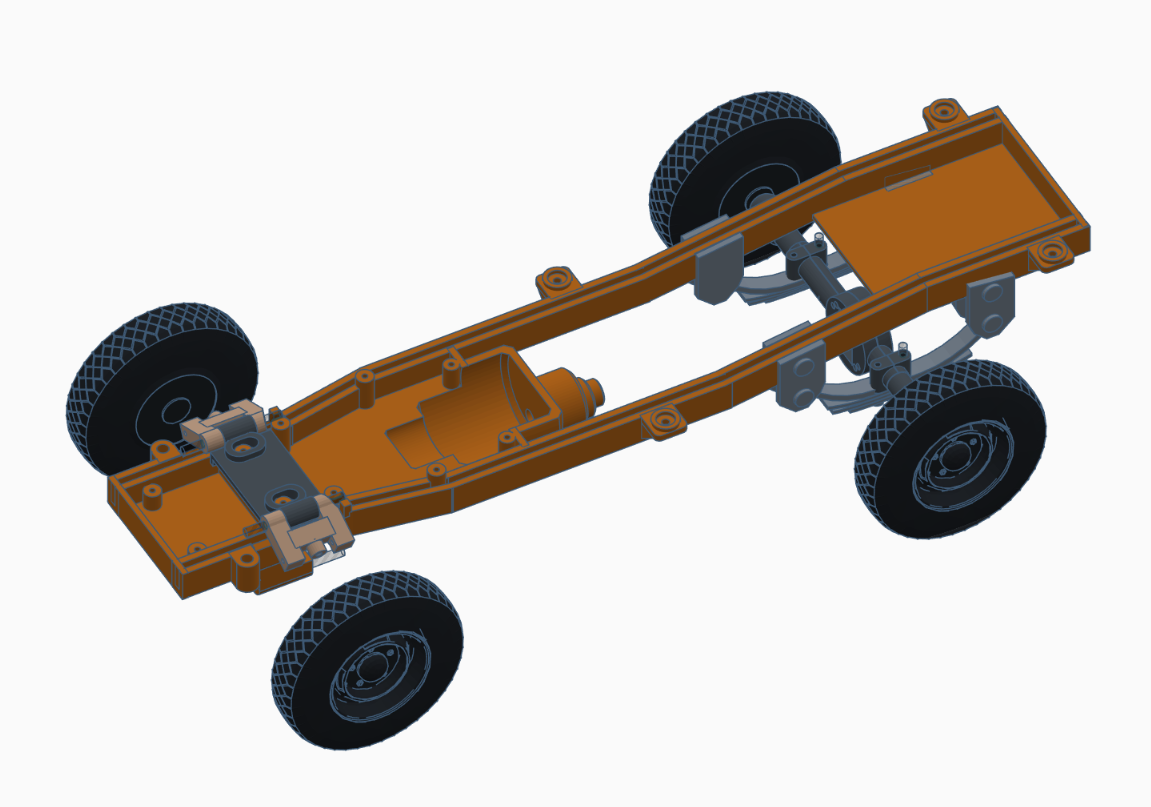 CHASSIS MOCKUP.png Download STL file WPL D12 CHASSIS MOCKUP y placa base de la carrocería • Object to 3D print, grogamins