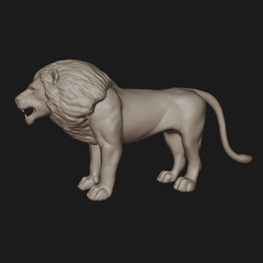 6.jpg Download STL file Lion • 3D printing model, fidad