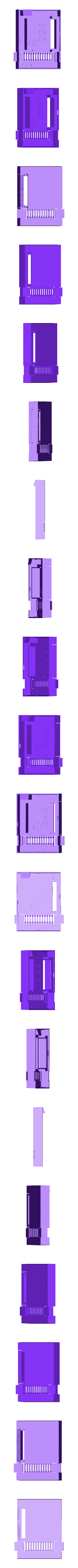 top_shell_WITH_supports.stl Download free STL file Mini NES Raspberry Pi Case • Template to 3D print, Aralala