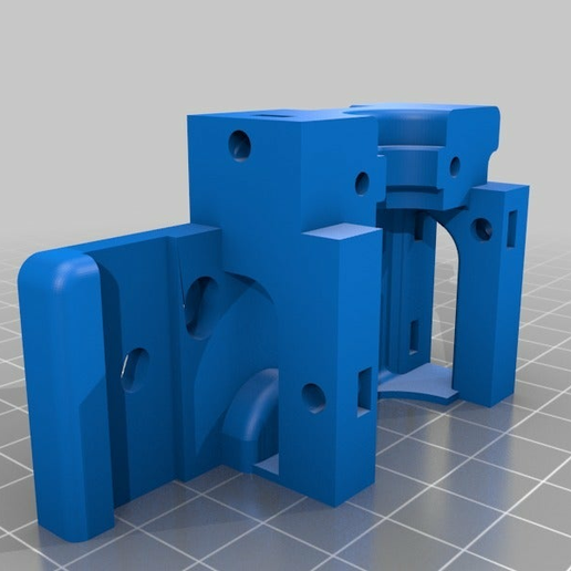 d82d2a2f461afd47ce4d169fd34cc293.png Download free STL file Petsfang E3D V6 BasE for Alfawise U20 • 3D printable template, Phoquounet