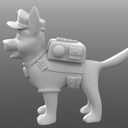chase_paw_patrol_03.JPG Download STL file Chase Paw Patrol • 3D printable object, tridimagina