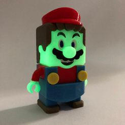 """IMG_0824.jpg Download free STL file Super Mario - """"LEGO MARIO"""" style - complete set • Template to 3D print, soarpix"""