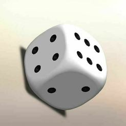 04.jpg Download STL file 5 dice, large sizes • Object to 3D print, LuisCrown
