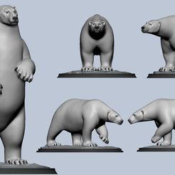 02.jpg Download OBJ file Polar Bear • 3D print model, Dynastinae