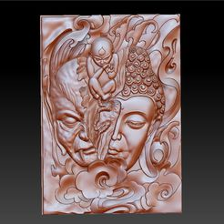 buddhaAndDemon1.jpg Download free STL file buddha or demon in a moment • 3D print model, stlfilesfree