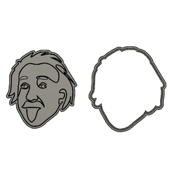 einstein-cults.png Download STL file Einstein cookie cutter • Object to 3D print, ancor