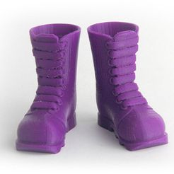 MAKIES_IndustrialBoots_Purple_display_large.jpg Download free STL file Makies Industrial Boots • 3D print model, Makies