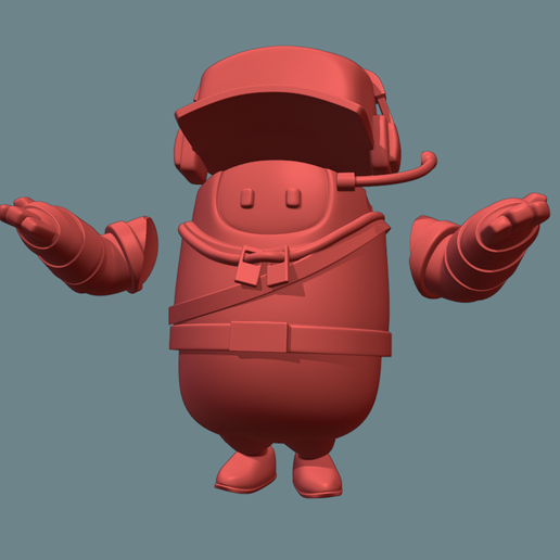 Captura45.PNG Download free STL file Fall guys Scout • Design to 3D print, Ink3D
