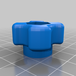 "516hand_knob.png Download free STL file Hand Tightening Knob for 5/16"" Bolts • Template to 3D print, Garagebot"