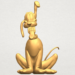 TDA0536 Dog Cartoon 01 -Pluto A01 ex800.png Download free STL file Dog Cartoon 01 -Pluto • 3D printable object, GeorgesNikkei