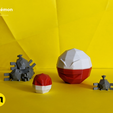 IMG_20200217_144519.png Download file Low Poly Pokemon Collection 151 • 3D printable object, 3D-mon