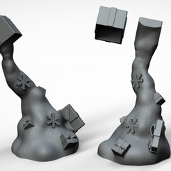 "untitled.2.png Download free STL file Noel Arrive "" Sans supports "" • 3D print model, BODY3D"