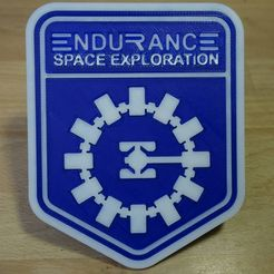 DSC02040_display_large.JPG Download free STL file Interstellar Endurance badge • 3D printable template, Werthrante