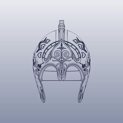 15.jpg Download STL file Theoden Helmet • 3D printable object, 3Agraphic