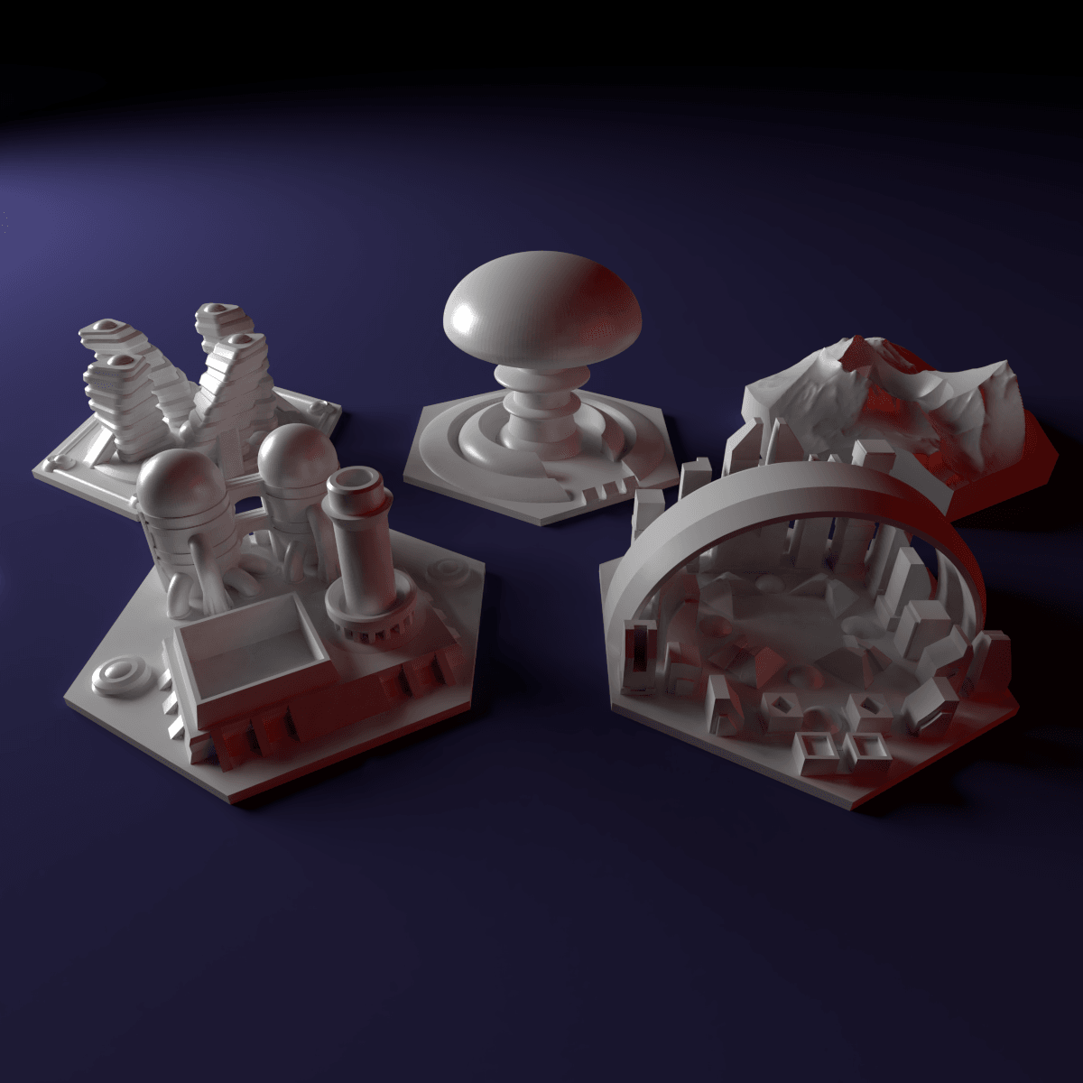 Pic2.png Download STL file Custom special tile set for Terraforming Mars - special tiles nr 7-11 • 3D printing object, Rayjunx