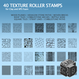 XPS2.png Download STL file 40 Clay and XPS Foam Texture Roller Stamp • 3D printer object, emboyd