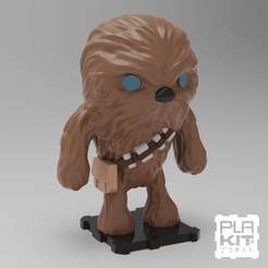 SQCHEW (2).png Download free STL file StarWars Chewbacca • 3D printer object, purakito