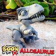 Boon_Allosaurus_3.jpg Download free STL file Boon the Tiny T. Rex: Allosaurus UpKit (Arms ONLY) - 3DKitbash.com • Model to 3D print, Quincy_of_3DKitbash