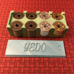 Yedo Coin Caddy - separate.jpg Download free STL file Yedo Deluxe Metal Coin Caddy Holder • 3D printable design, GauravU