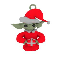 baby yoda.jpg Download STL file Baby Santa Yoda • 3D printer design, swivaller