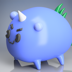 axie1.1.png Download OBJ file AXIE INFINITY 1 • Template to 3D print, mateoalvarezlopera