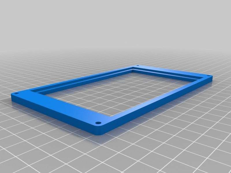 "LcdFrameBottom.jpg Download free STL file Beaglebone LCD 5"" cape case • 3D printable model, victor999"