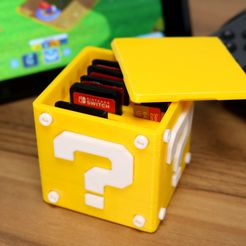 Super Mario Box.JPG Télécharger fichier STL gratuit Question Block Switch Cartridge Case • Design imprimable en 3D, Kickass3DPrints
