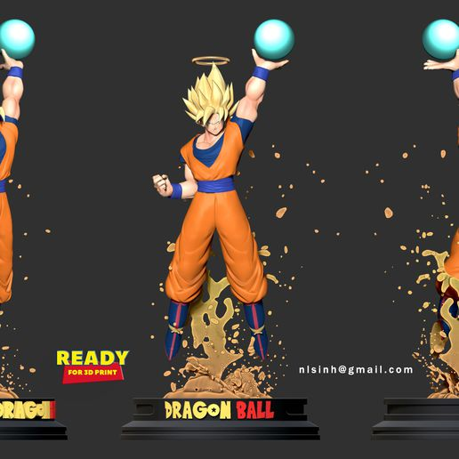 3side.jpg Download STL file Goku Super Saiyan • 3D print template, nlsinh